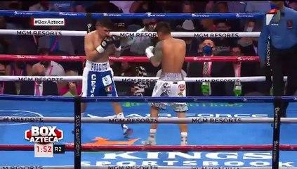 ¡El 'Pollito' Ceja cierra con todo el segundo round y pone en aprietos a Magsayo!