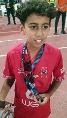 موسيماني يهد ميدالية وصيف السوبر المصري لطفل أهلاوي