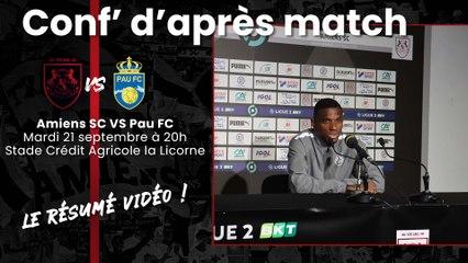 Conférence d'après match ASC - Pau FC: Mamadou Fofana