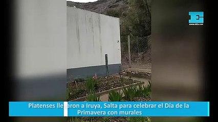 Platenses llegaron a Iruya, Salta para celebrar el Día de la Primavera con murales