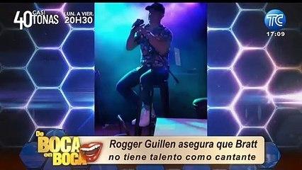 """Rogger Guillén asegura que Bratt Murgueitio no es un buen cantante: """"Para de hacer el ridículo"""""""