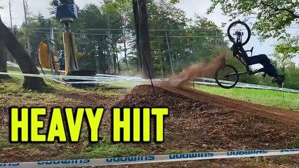 'GRUESOME bike crash sends rider flying '