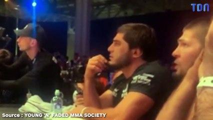 UFC – Dans un combat pour son père décédé, le comportement psychopathe de Khabib ! (vidéo)