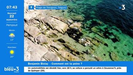 22/09/2021 - Le 6/9 de France Bleu Breizh Izel en vidéo