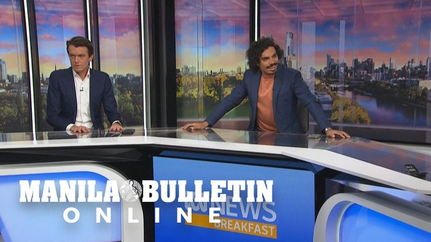 Quake shakes Australian TV studio in Melbourne
