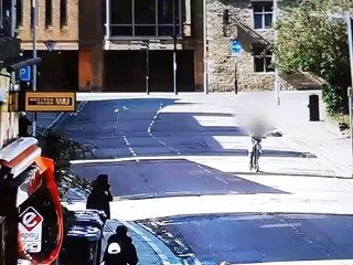 Teen dangerous e-scooter rider nearly collides with bus in Peterborough
