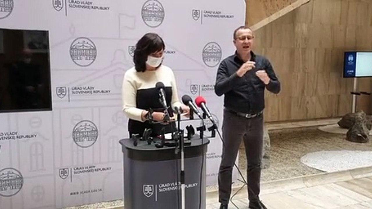 ZÁZNAM: Brífing podpredsedníčky Vlády SR V. Remišovej