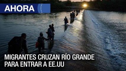 Migrantes haitianos , centroamericanos y venezolanos cruzan el RÍo Grande para entrar a #EE.UU - #22Sep - Ahora