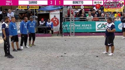 Finale rapide mais disputée BONETTO vs SARRIO : International à pétanque de RUOMS - 18 & 19 septembre 2021