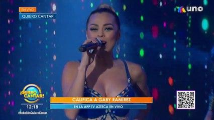 """¡Gaby Ramírez llegó al escenario de Quiero Cantar junto al tema """"Suave""""!   Venga La Alegría"""