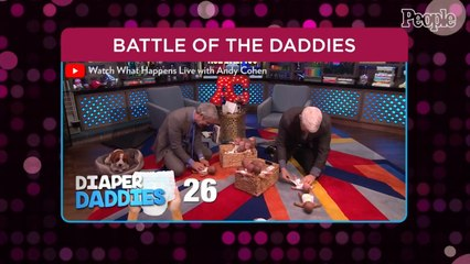 Andy Cohen and Anderson Cooper Face Off in Diaper Changing Competition — See Which Dad Wins!
