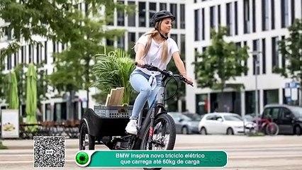 BMW inspira novo triciclo elétrico que carrega até 60kg de carga