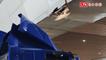 貨櫃車誤闖桃園機場 車頂撞壞天橋
