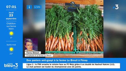 23/09/2021 - Le 6/9 de France Bleu Bourgogne en vidéo