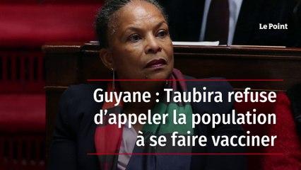 Guyane : Taubira refuse d'appeler la population à se faire vacciner