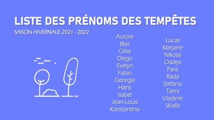 Illustration de l'actualité Aurore, Jean-Louis, Nikolai ... la liste des prénoms des tempêtes !