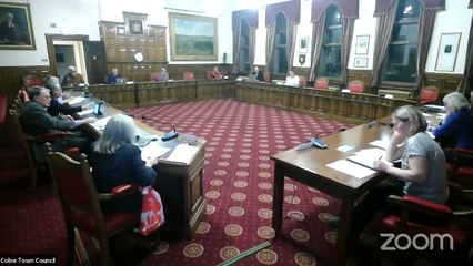Colne Town Council meeting