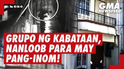 Grupo ng kabataan, nanloob ng bahay para may pang-inom! | GMA News Feed