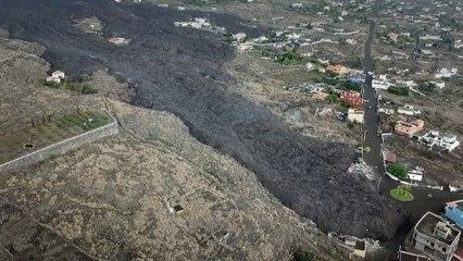 Drohnenvideo zeigt Zerstörung: Lavaströme richten enorme Schäden auf La Palma an