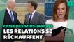 Crise des sous-marins: le coup de fil entre Biden et Macron