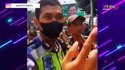 Viral! Ormas Blokade Jalan Sampai Dibubarkan Polisi