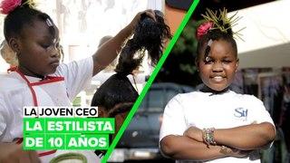 La joven CEO: la estilista de 10 años