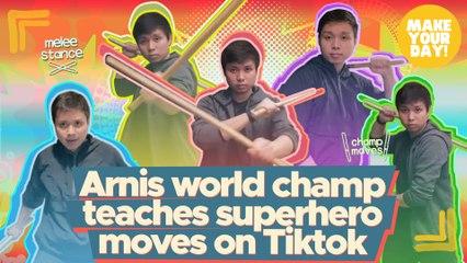 Arnis world champ teachers superhero moves on Tiktok | Make Your Day