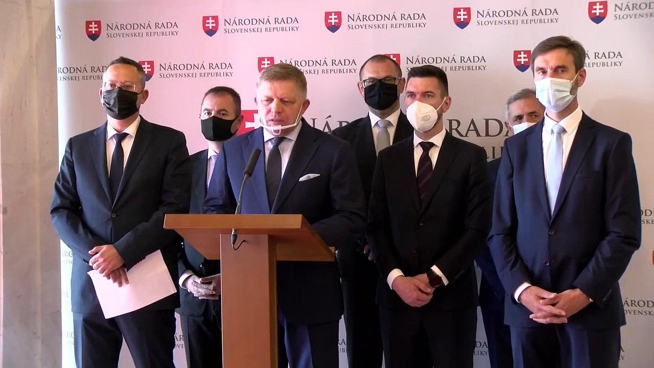 ZÁZNAM: Tlačové vyhlásenie poslaneckého klubu Smer-SD