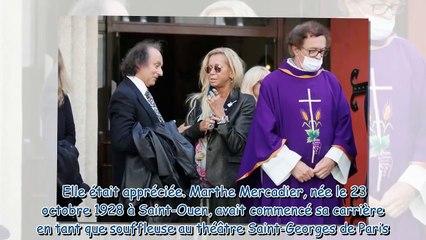Obsèques de Marthe Mercadier - Fiona Gélin, Olivier Lejeune, Chantal Ladesou… Le dernier adieu des s
