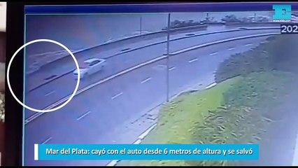 Mar del Plata cayó con el auto desde 6 metros de altura y se salvó