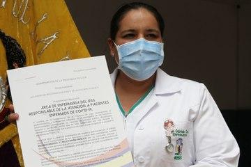 Personal de salud de primera línea recibió nombramiento