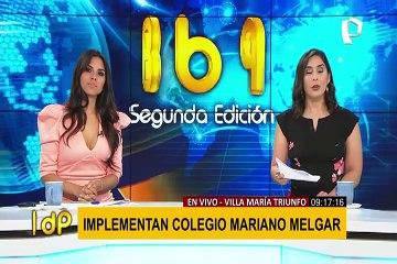 Regreso a clases: implementan colegio Mariano Melgar en VMT