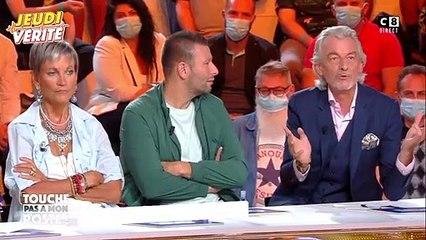 """Benjamin Castaldi parle de son opération des yeux sur le plateau de """"Touche pas à mon poste""""."""