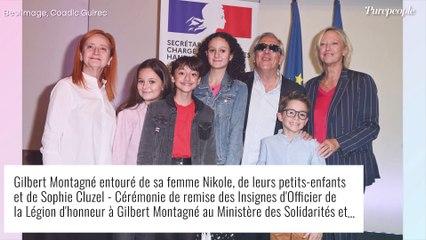 Gilbert Montagné avec Nikole et leurs petits enfants pour une soirée très spéciale