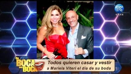 Mariela Viteri habla de cómo sería vestido de novia: ¿Aceptaría a Luis Tippán como su diseñador?