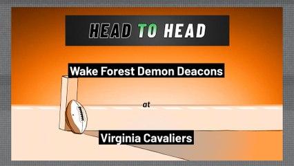 Virginia Cavaliers - Wake Forest Demon Deacons - Spread