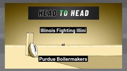 Purdue Boilermakers - Illinois Fighting Illini - Spread
