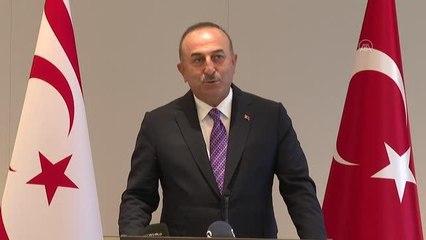 """Dışişleri Bakanı Çavuşoğlu: """"Milli davamız Kıbrıs'ı birlikte sonuna kadar savunmaya devam edeceğiz"""""""