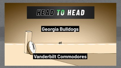 Vanderbilt Commodores - Georgia Bulldogs - Over/Under