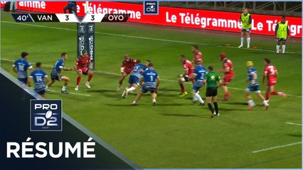 PRO D2 - Résumé RC Vannes-Oyonnax Rugby: 6-23 - J05 - Saison 2021/2022
