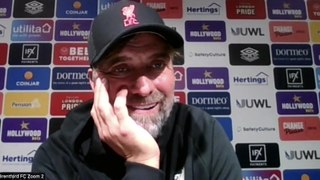 Klopp disappointed after Brentford 3-3 Liverpool