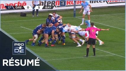 PRO D2 - Résumé FC Grenoble Rugby-Aviron Bayonnais: 13-18 - J05 - Saison 2021/2022