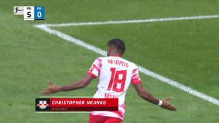 Nkunku stars as Leipzig put six past Hertha