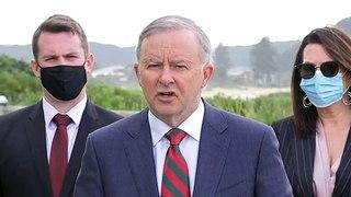 Opposition leader criticises PM over net zero stance