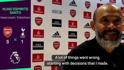 Nuno Espirito Santo assume ses responsabilités après la claque reçue dans le derby londonien