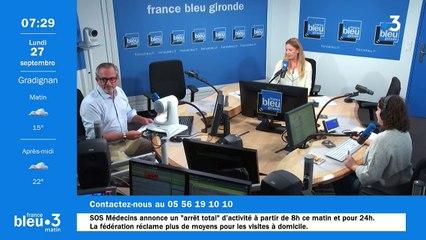 27/09/2021 - Le 6/9 de France Bleu Gironde en vidéo