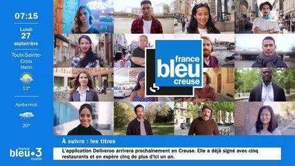 27/09/2021 - Le 6/9 de France Bleu Creuse en vidéo