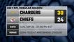 Chargers @ Chiefs Game Recap for SUN, SEP 26 - 01:00 PM EST