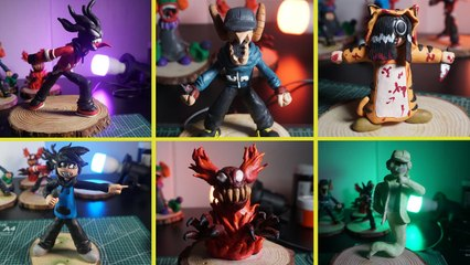 How To Make All Friday Night Funkin' MOD Characters with Clay # 1