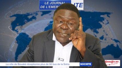 JTE/ La ville de Bouaké réceptionne plus de 50 bus de la Sotra, Gbi félicite l'Etat